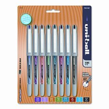 Vision Needle Roller Ball Stick Liquid Pen (Set of 8)