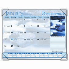 Inspirational Color Photographic Monthly Desk Pad Calendar, 22 x 17, 2013