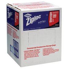 "<strong>Ziploc®</strong> 7"" x 8"" Double Zipper Food Bags in Clear"