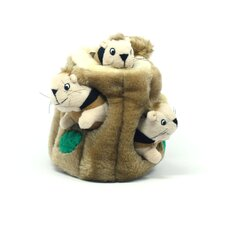 Plush Puppies Hide a Squirrel Dog Toy
