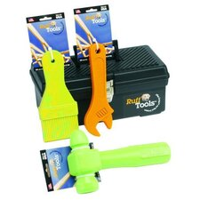 Ruff Tools Dog Paint Brush Dog Toy in Lime