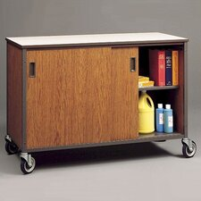 Mobile Arts and Crafts Shelf Cabinet