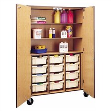 "<strong>Fleetwood</strong> 72"" H Storage Cabinet with 3 Shelves and Optional Trays"