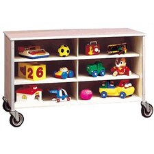Twelve Cubbby Rolling Storage Cabinet