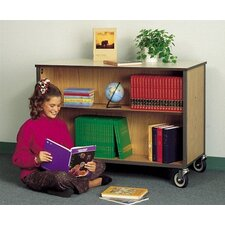 Mobile Double Sided Bookcase