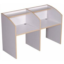 Single Sided Study Carrel Privacy Desk Starter