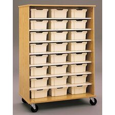 "<strong>Fleetwood</strong> 68"" H Encore Double Sided Shelf Cabinet with Trays"
