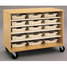 "<strong>Fleetwood</strong> 36"" H Encore Double Sided Shelf Cabinet with Optional Storage Trays"