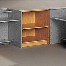 <strong>Fleetwood</strong> Library Modular Front Desk System Open Storage Unit Bookcase