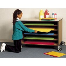 Open Paper Storage Shelf Cart