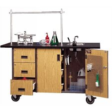 Deluxe Mobile Science Lab Station with Sink, Drawers, and Tote Trays