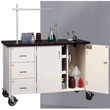 "48"" W Mobile Science Lab Station with Sink and Storage"