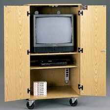 Mobile TV / VCR Multimedia Cabinet