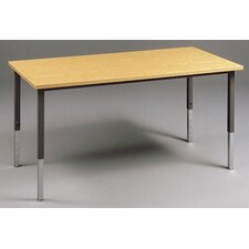 Multi Use Rectangular Table with Adjustable Height