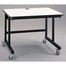 <strong>Fleetwood</strong> Mobile Computer Table with J-Trough Wire Management