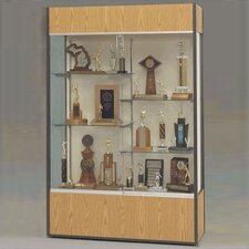 Trophy and Art Display Case with Half Width Shelves