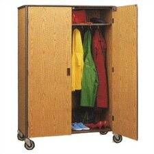 "60"" H Student Wardrobe Cabinet with Locking Doors"
