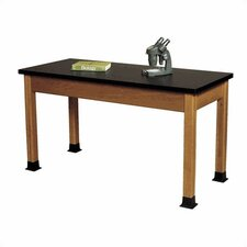 Wood Science Table with Chemical Resistant Top