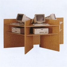 Lab Carrel Wooden Workstation Starter