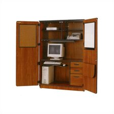 Illusions Teacher Computer Armoire Desk Office Suite with Locking Doors