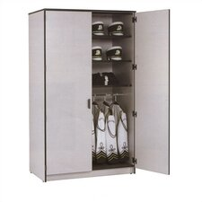 "Harmony 48"" W Folio Storage Cabinet with Four Columns and Optional Doors"