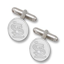 MLB Sterling Silver Logo Cuff Links
