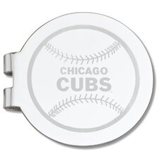 MLB Laser Etched Silver Plated Money Clip