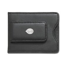 <strong>LogoArt®</strong> MLB Logo Black Leather Money Clip / Credit Card Holder
