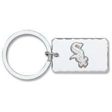 MLB Silvertone Key Chain with Sterling Silver Logo