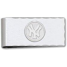 MLB Silvertone Logo Money Clip
