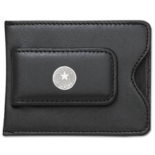 <strong>LogoArt®</strong> NFL Logo Black Leather Money Clip / Credit Card / ID Holder