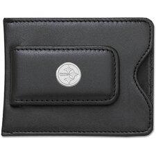 NFL Logo Black Leather Money Clip / Credit Card / ID Holder