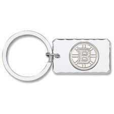 NHL Silvertone Key Chain with Sterling Silver Logo