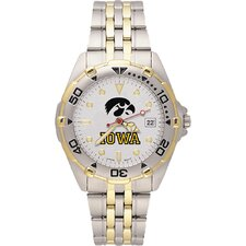 NCAA Men's All Star Bracelet Watch with Team Logo Dial
