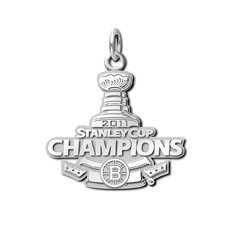 NHL Boston Bruins Stanley Cup Champions Charm in Sterling Silver