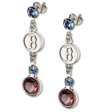 MLB Logo Crystal Earrings