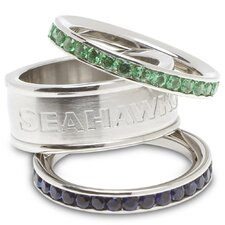 NFL Logo Crystal Stacked Ring Set