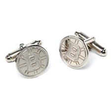NHL Sterling Silver Logo Cuff Links