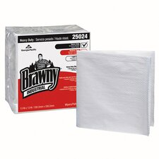 Heavy-Duty Quarter fold Shop Towels in White