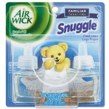 Scented Oil Twin Refill, Snuggle Fresh Linen , .71oz, 6/Carton