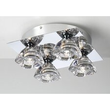 Aquaria 4 Light Semi Flush Mount