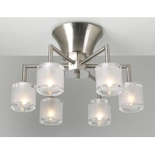 Julius 6 Light Semi Flush Mount