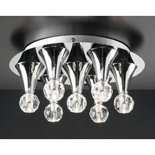 Brio 7 Light Semi Flush Mount