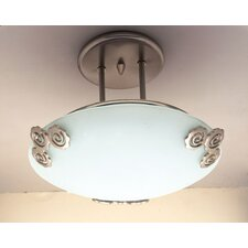 Aroma 1 Light Semi Flush Mount