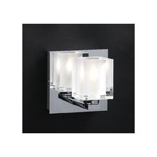 <strong>PLC Lighting</strong> Glacier  1 Light Wall Sconce