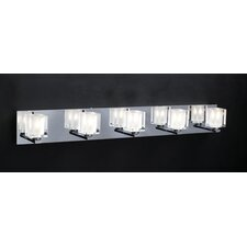 Glacier 5 Light Vanity Light