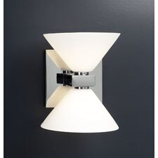 <strong>PLC Lighting</strong> Matrix  2 Light Wall Sconce