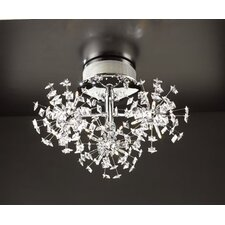 <strong>PLC Lighting</strong> Firework 18 Light Semi Flush Mount