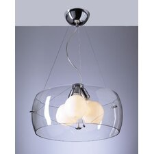 <strong>PLC Lighting</strong> Lumisphere 3 Light Mini Drum Pendant