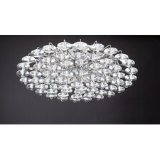 Diamente 18 Light Semi Flush Mount